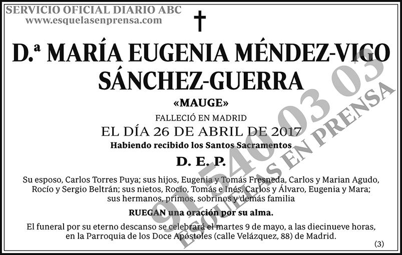 María Eugenia Méndez-Vigo Sánchez-Guerra